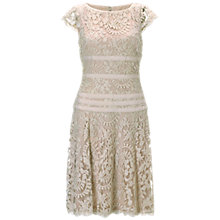 Buy Adrianna Papell Illusion Inset Dress, Oyster Online at johnlewis.com