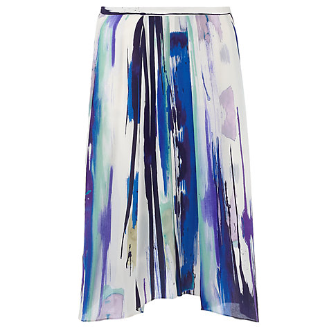 Buy Jigsaw Paintbrush Stroke Skirt, Multi Online at johnlewis.com