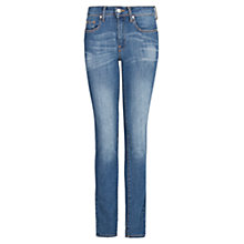 Buy Mango Super Slim-Fit Olivia Jeans, Medium Blue Online at johnlewis.com