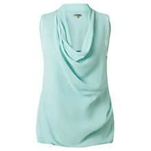 Buy Jigsaw Silk Jersey Cowl Top, Mint Online at johnlewis.com