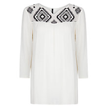 Buy Mango Ethnic Embroidered Blouse Online at johnlewis.com