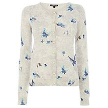 Buy Warehouse Butterfly Print Cardigan, Beige Online at johnlewis.com