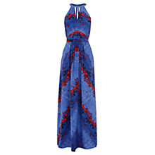 Buy Warehouse Lava Stripe Maxi Dress, Orange Online at johnlewis.com