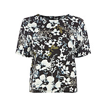 Buy Warehouse Tropical Floral Print Scuba T-Shirt, Multi Online at johnlewis.com