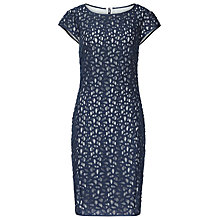 Buy Reiss Lace Bodycon Tally Dress, Blue/Cream Online at johnlewis.com