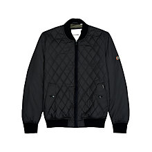 Buy Ben Sherman Quilted Bomber Jacket, Black Online at johnlewis.com