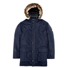 Buy Ben Sherman Quilted Arc Parka, Navy Online at johnlewis.com