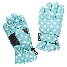 Buy John Lewis Star Ski Gloves, Aqua Online at johnlewis.com