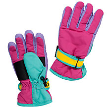 Buy John Lewis Colour Block Ski Gloves, Multi Online at johnlewis.com