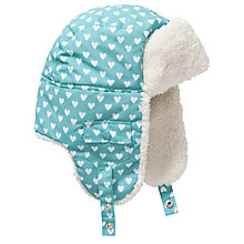 Buy John Lewis Children's Heart Ski Trapper, Aqua Online at johnlewis.com
