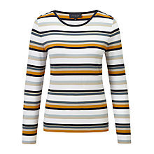 Buy Viyella Stripe Jersey Top, Sand Online at johnlewis.com