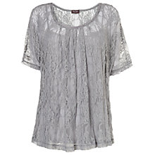 Buy Phase Eight Verity Lace Top, Silver Online at johnlewis.com