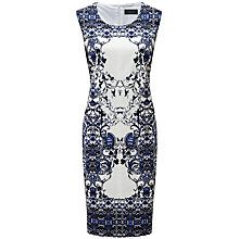 Buy Viyella Floral Print Cotton Dress, White Online at johnlewis.com