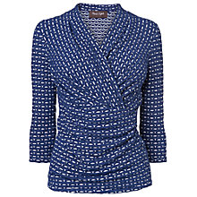 Buy Phase Eight Effie Wrap Top, Navy/Ivory Online at johnlewis.com