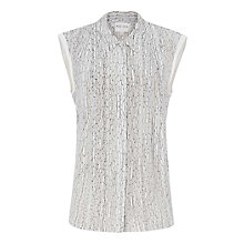 Buy Reiss Reine Print Shirt, White Print Online at johnlewis.com
