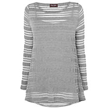 Buy Phase Eight Montpellier Teagan Textured Top, Platinum Online at johnlewis.com