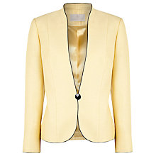 Buy Jacques Vert Primrose Piped One Button Jacket, Primrose Online at johnlewis.com