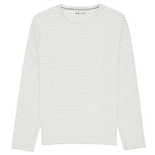 Buy Reiss Island Stripe Long Sleeve Top, Ecru Online at johnlewis.com