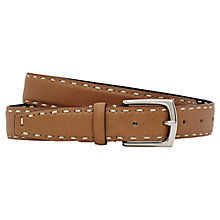 Buy Reiss Casino Stitch Detail Belt, Natural Online at johnlewis.com