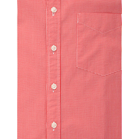 Buy Thomas Pink Longitude Check Long Sleeve Shirt, Red/White Online at johnlewis.com