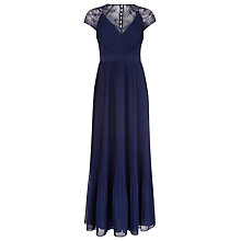 Buy Kaliko Middleton Pleated Dress, Midnight Online at johnlewis.com