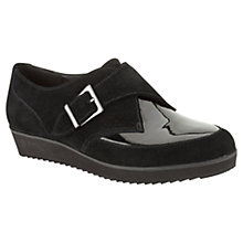 Buy Clarks Compass Patent Leather Brogues, Black Online at johnlewis.com