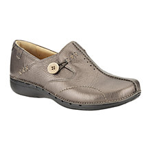 Buy Clarks Unloop Leather Loafers Online at johnlewis.com