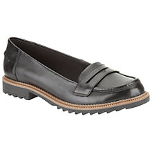 Buy Clarks Griffin Milly Loafers, Black Online at johnlewis.com