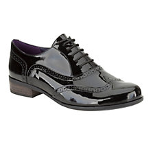 Buy Clarks Hamble Oak Leather Brogue Shoes, Black Patent Online at johnlewis.com