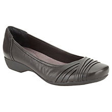 Buy Clarks Albury Pixie Leather Shoes, Black Online at johnlewis.com