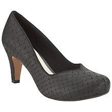 Buy Clarks Chorus Voice Leather Court Shoes, Black Interest Online at johnlewis.com
