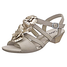 Buy Gabor Forres Leather Sandals, Gold Online at johnlewis.com