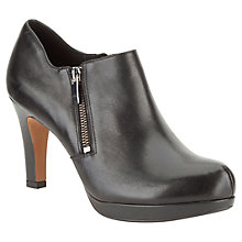 Buy Clarks Amos Kendra Leather Ankle Boots, Black Online at johnlewis.com