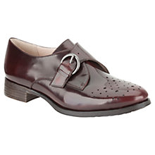 Buy Clarks Busby Jazz Leather Brogues, Burgandy Online at johnlewis.com