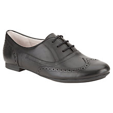 Buy Clarks Carousel Trick Lace-Up Leather Shoes, Black Online at johnlewis.com