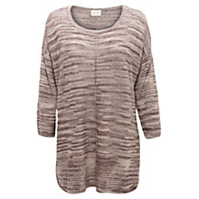 Buy East Space Dye Oversized Jumper, Elephant Online at johnlewis.com