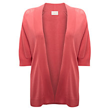 Buy East Lace Pointelle Cardigan, Blush Online at johnlewis.com