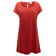 Buy East Scoop Neck Linen Dress, Henna Online at johnlewis.com