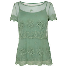 Buy Phase Eight Jennifer Lace Top, Cameo Green Online at johnlewis.com