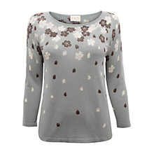 Buy East Rika Floral Print Jumper, Mist Online at johnlewis.com