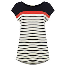 Buy Oasis Block Breton T-Shirt, Blue Multi Online at johnlewis.com