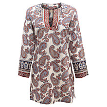 Buy East Paisley Print Kurta Top, Pearl Online at johnlewis.com