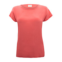 Buy East Silk Front T-Shirt, Blush Online at johnlewis.com