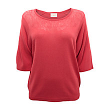 Buy East Lace Pointelle Jumper, Rouge Online at johnlewis.com