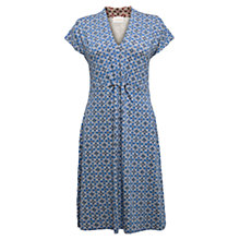 Buy East Zara Print Jersey Dress, Blue Online at johnlewis.com
