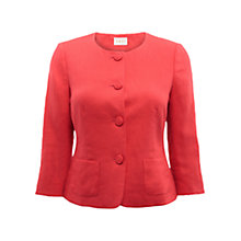 Buy East Victoire Linen Jacket, Rouge Online at johnlewis.com