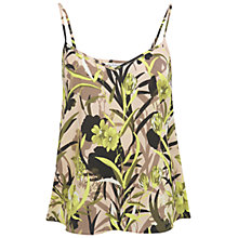 Buy Miss Selfridge Floral Palm Print Cami Top, Assorted Online at johnlewis.com