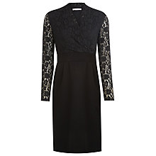 Buy Kaliko Bubble Lace Panel Dress, Black Online at johnlewis.com