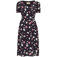 Buy Havren Floral Flip Hem Shift Dress, Purple Combo Online at johnlewis.com