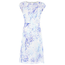 Buy Kaliko Wisteria Floral Print Dress, Dark Blue Online at johnlewis.com